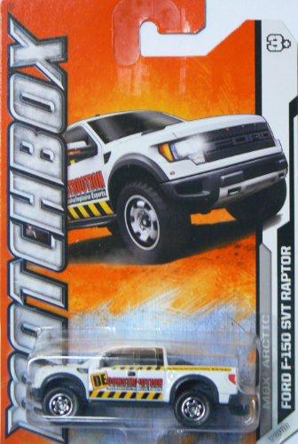 Matchbox MBX Arctic Ford F-150 SVT Raptor White #77/120 by Mattel (Raptor Matchbox)