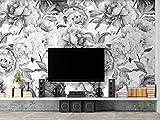 Fototapete Vlies Wallpaper 3D Tapete Wand deko Moderne Seide Wandbilder Anpassbare nordische Ikea - Pfingstrose TV-Hintergrundwand
