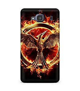 Amez designer printed 3d premium high quality back case cover for Xiaomi Redmi 2S (Mockingjay the hunger game)
