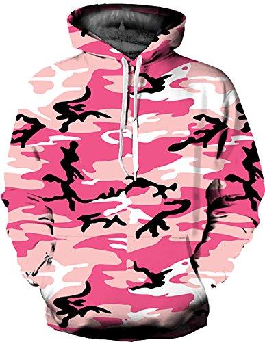 KamiraCoco 3D Druck Kapuzenpullover Cartoon Sweatshirt Weihnachten Langarm Top Shirt Herbst Winter Drawstring Hoodie Pullover (L / XL, (Halloween Frei Grafiken)