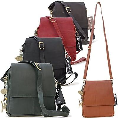 Catwalk Collection Handbags - Cuir Véritable - Organiseur Sac à Main/Sac Bandoulière/Sac Besace/Messenger/Sac Porté Croisé - Femme - METRO