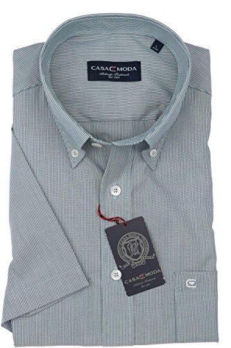 Casa Moda - Herren Kurzarm Freizeithemd mit Button-Down Kragen 962639500A Blau (150)