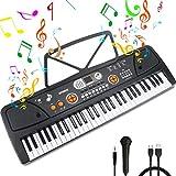 Teclado Piano 61 Teclas Teclado de Piano Portátil Principiantes Teclado electrónico...