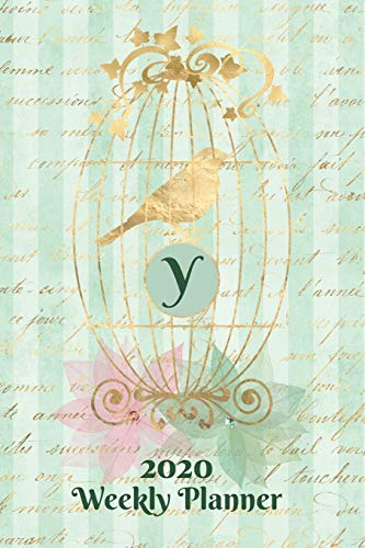 Plan On It 2020 Weekly Calendar Planner 15 Month Pocket Appointment Notebook - Gilded Bird In A Cage Monogram Letter Y: January 2020 thru March 2021 15 Months Dated Agenda Notebook