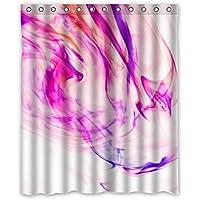 Cambiamento graduale sfondo porpora grano modello disegno poliestere tessuti impermeabile bagno tenda doccia 152,4x 182,9cm (152cm x 183cm), Poliestere, D, 60