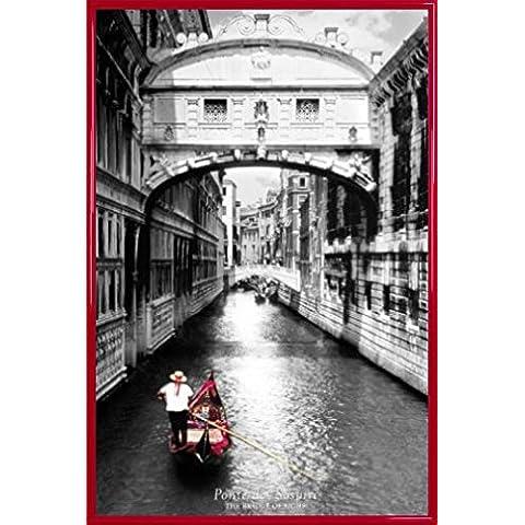 Venecia Póster con Marco (Plástico) - Bridge Of Sighs, Ponte Dei Sospiri (91 x 61cm)