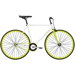 "Sprint FIXED Bicicleta Fixie Cuadro de acero Ruedas de 28"", color blanco verde"