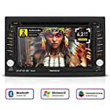 NEOTONE NDX-300W | Navigation mit Europakarten 2019 | universelles 2DIN Autoradio | 6.2 Zoll | Radarwarnsystem | Bluetooth | Touchscreen | DVD-Player | MirrorLink | 16GB MicroSD inklusive