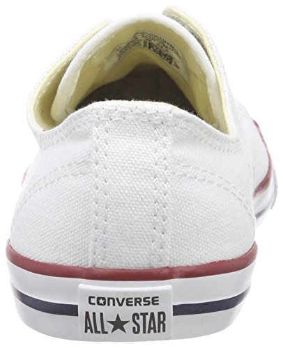 Converse Dainty Leath Ox 289050-52-17 , Sneaker donna Bianco (Blanc/Rouge)