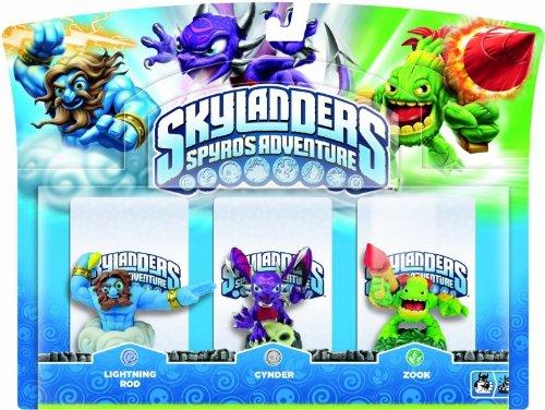 Skylanders - Triple Pack G: Lightning Rod, Zook, Cynder