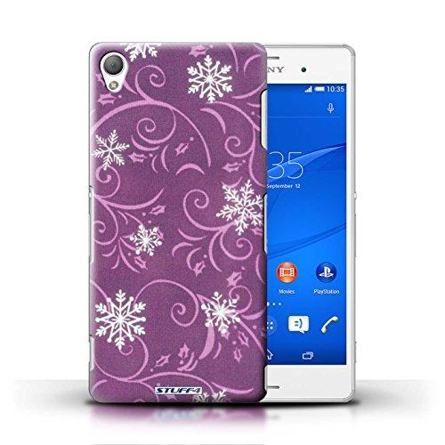 Kobalt® Imprimé Etui / Coque pour Sony Xperia Z3 / Vert conception / Série Motif flocon de neige Rose