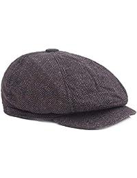 b09d946460836 Bérets Hommes Chapeau Vintage en Tissu Shelby pour Homme, Style Twill,  Cabbie Casquette Gavroche 3 Couleurs Casquette Plate pour Homme…