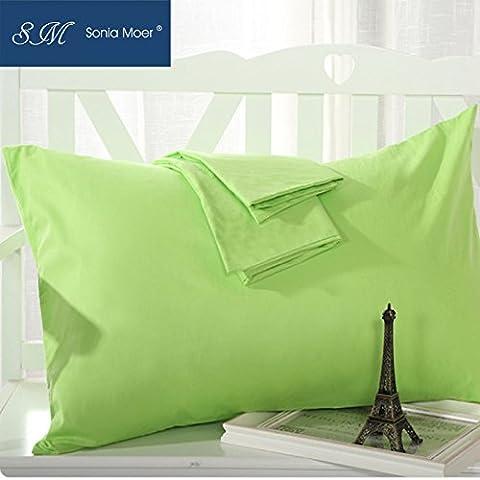 Sonia Moer Lot de 2taies d'oreiller 50% coton 50% polyester 200fils