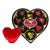 Chocholik 9Pc Sparkling Belgian Chocolates Valentine Gift With Heart Pillow - Luxury Chocolates - Valentine Special Love Gifts
