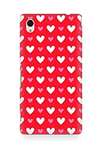 Amez designer printed 3d premium high quality back case cover for Sony Xperia M4 (Heart Pattern10)