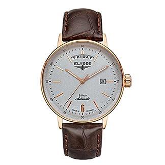 Elysee-Sithon-Automatic-Calendar-Herrenuhr-mit-hochwertigem-Leder-oder-Meshband