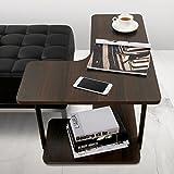 Lifewit Tavolo Laterale a 2 Ripiani Tavolo a Forma di L Tavolo da Salotto/Scrivania Couch Side End Table, Espresso