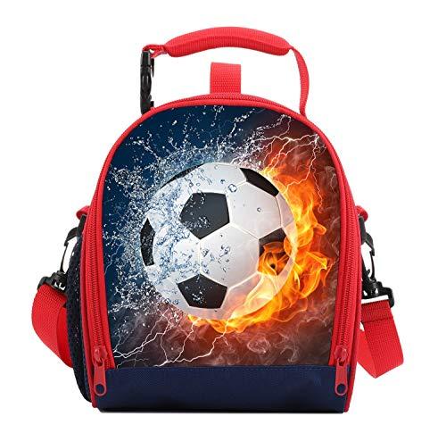 7-Mi Sac Isotherme Repas Sac Repas Isotherme Enfant Pique Nique Repas Protection de fraîcheur École/Familie/Enfant-Football