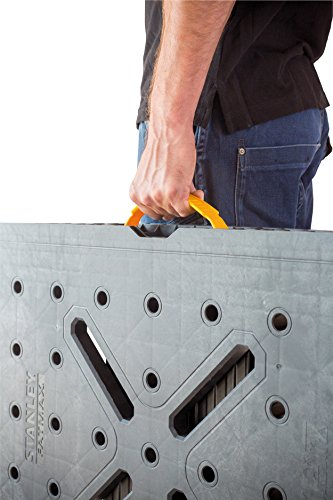 Stanley FatMax klappbare Werkbank / Express Werkbank (bis 455kg belastbar, mit Metallbeinen für höchste Stabilität, große Arbeitsfläche, mit praktischem Tragegriff, für schnellen Aufbau) FMST1-75672 - 2