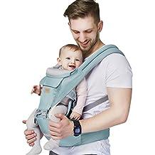 Z ZHIZU Ergonómico Mochilas portabebé Manos libres Fular Portabebés - Portador de Bebé - Todo Natural