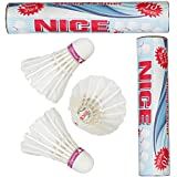 VOXAMIN NC-10 Nice Strong Feather Badminton Shuttlecocks Pack Of Two Boxes ( 10 Shuttlecocks In Every Box).