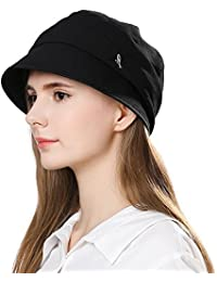 02396a2d Ladies Summer Baker Boy Cap Newsboy Hats Visor Beret Sun Hat for Women  Casual Cloche Peak