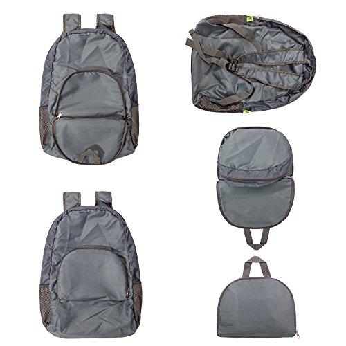Zaino zaino, zaino da viaggio, 35L impermeabile zaino da escursionismo, tascabile pieghevole–ultraleggero e pratico, Grey Grey