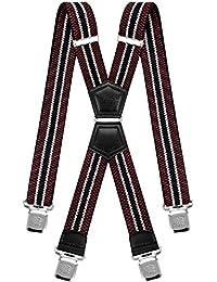 Decalen Bretelle Uomo Donna X Forma Elastici Registrabili Clip molto forti  Colori Nero Blu Rosso d1bcfeafc8c6