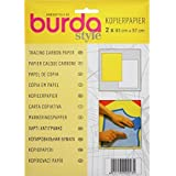 Burda Papier de traçage carbone 1 jaune, 1 drap blanc 83 x 57 cm