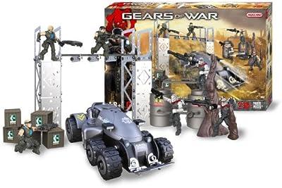 Meccano 850450 Gears of War - Juego de construcción, diseño de batalla entre Locusts y pelotón Delta