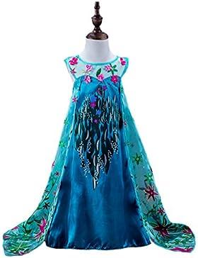 FNKSCRAFT® niña navidad Regalos largo Fancy Dress vestido niña fiesta Snow Queen Dresses disfraz de halloween...