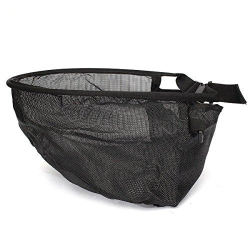String Tasche Schwarze Nylon-Mesh-Stripping Korb fôr Fly Fishing Rod Net