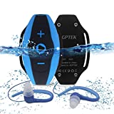 AGPTEK S05- Lettore MP3 Subacqueo di 8 GB, Resistente all'Acqua, Blu