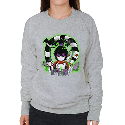 Beetlejuice Snake Women's Sweatshirt Heather Grey