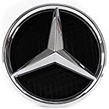 Emblème LED pour Mercedes Benz 2011-2015, Insigne Sur La Grille Avant De La Voiture, Logo Automatiquement Illuminé, Grille Badge, Anneaux Lumineux, Bagues étoile DRL Lumière de jour Blanc