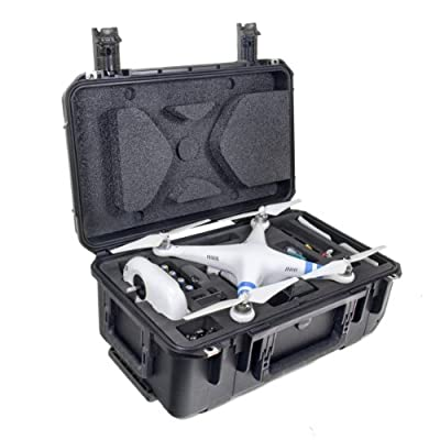 "CasePro CP-PHAN-CO1 DJI Phantom Quadcopter/GoPro Carry-On Hard Case, 22"" Length, 14.75"" Width, 9.5"" Height, Black from CasePro"