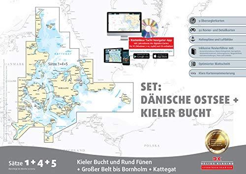 Sportbootkarten Satz 1, 4 und 5 – Set: Dänische Ostsee und Kieler Bucht (Ausgabe 2019)