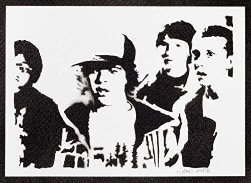 Poster Stranger Things Undici Mike Dustin e Lucas Handmade Graffiti Street Art - Artwork