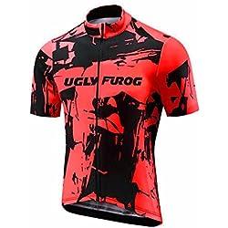 UGLYFROG #18-05 Bike Wear Ciclismo Hombres Maillots Seco y transpirable de Bicicleta Conjunto de Ropa de Ciclo Jersey de manga corta