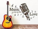 Klebeheld® Wandtattoo Music was My First Love