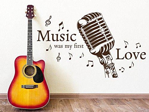 (KLEBEHELD® Wandtattoo Music was my first love)