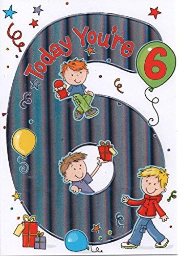 Popolare Biglietto per auguri di compleanno per bambino, 6 anni QQ91
