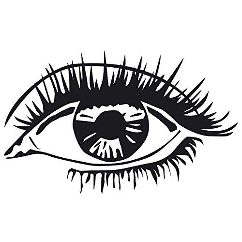 Wadeco Das Auge Wandtattoo Wandsticker Wandaufkleber 35 Farben verschiedene Größen, 72cm x 44cm, braun