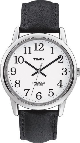 timex-mens-t20501-quartz-easy-reader-watch-with-white-dial-analogue-display-and-black-leather-strap