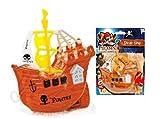 13-Cm-Piratenschiff-Spielzeug Mit der Ziehen-Schnur Und Spinnendem Propeller - Badespielsachen (HL253)