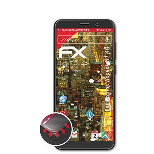 atFolix Schutzfolie passend für Archos Access 57 4G Folie, entspiegelnde & Flexible FX Bildschirmschutzfolie (3X)