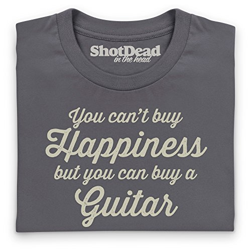 Happiness Is A Guitar T-Shirt, Damen Anthrazit