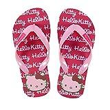 Flip Flops - Zehentreter - Hello Kitty mit Motiv- und Größenauswahl (33/34, Schrift rot/rosa)