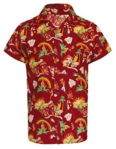 Hawaiian Shirt Loud Mens Aloha Hawaii Holiday Fun Island Barbados Fashion Casual Beach Stag Summer Palm Tree Party Caribbean Cocktail Tika Taka California Short Sleeve NEW S M L XL XXL
