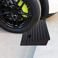 2 rampas de goma portátiles para coche, scooter, moto, silla, silla, silla, 48,7 x 24 x 10 cm